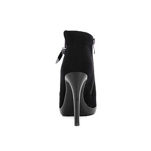 Noir Balamasa Sandales Noir 36 5 Abl11883 Compensées Femme XXq7Pr