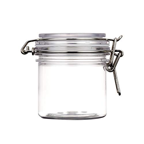 Facial Mask Jars Round Clear PET Plastic
