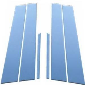 Hyundai Genesis 4DR 2015 Stainless Steel Chrome Pillar Posts 6PCS