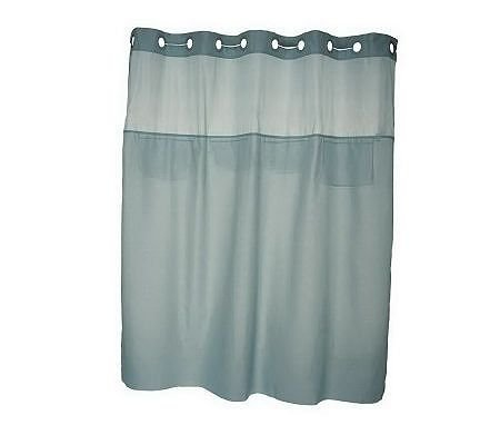 Hookless Mystery Window Shower Curtain With Four Mesh Pockets