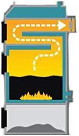 Festbrennstoffkessel Per Eko KSW 3,9 kW keine Messpflicht MIT Gebl/äse