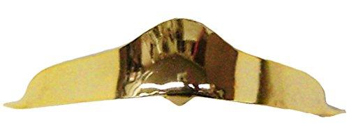 Modestone Pair Metal Toe Caps/Tips Western Filigree O/S Gold - Cowboy Boot Toe Caps