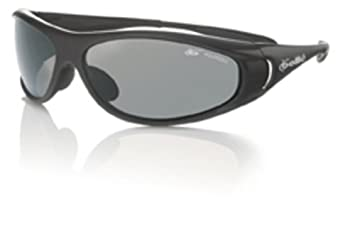 Spiral Sport Sunglasses with Shiny Black Frame and Polarized TNS Lens from Bolle