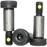 1/2''-3/8-16x3'' Socket Shoulder Screw, Nylon Pellet, Thermal Black Oxide, Alloy (inch), Head: Socket, (QUANTITY: 40) Size: 1/2''-3/8-16, Length: 3'', Coarse Thread (UNC) , RoHS