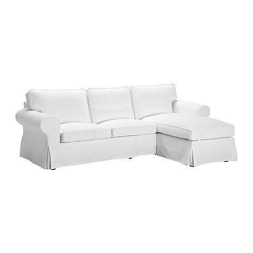 Ikea Ektorp Bezug Für 2er Sofa Mit Recamiere In Blekinge Weiß
