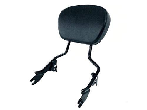 Detachable Tall Black Sissy Bar Backrest Upright & Passenger Pad for Harley Davidson like Street Glide Road King ref 54247-09A 52886-98D ()