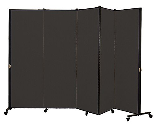 Screenflex Privacy Screen, 5.75' x 9.4', Charcoal Black by Screenflex