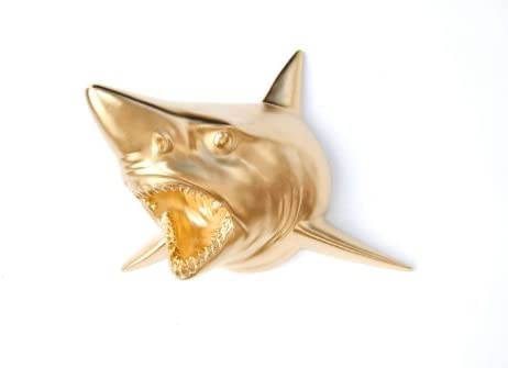 Near and Deer Faux Taxidermy Shark Wall Mount