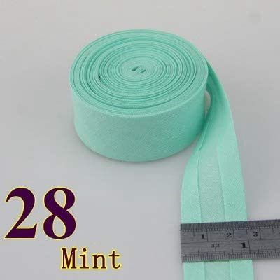 Color: 1 1 Halica 25mm Extra Width Ironed Single fold Cotton bias Tape//bias Binding for Garment Craft Sewing DIY -