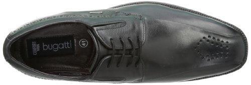 Bugatti T55051 - Oxford de cuero hombre negro - Schwarz (schwarz 100)