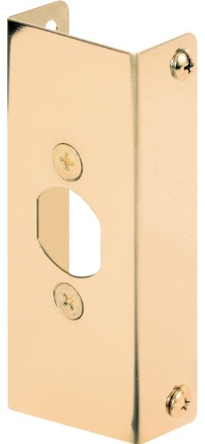 Defender Security U 9567 Door Edge Reinforcer, 1-3/4-Inch Thick X 1-Inch Deep X 4-1/2-Inch Thick, Brass - Edge Lock