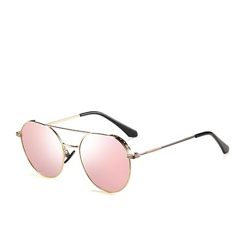 Sol Gafas Viaje Gafas Unisex Guía C3 Bastidor Gold Pink TL Espejo Espejo de de Hombres Sunglasses Gafas polarizadas de de para de Aviador Pistola la los C2 de Metal 8H86xwCq