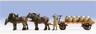 Noch 16701 Brewery Carriage//4 Horses H0 Scale Figures