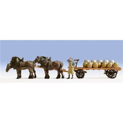 Noch 16701 Brewery Carriage/4 Horses H0 Scale  (Horse Carriage Model)