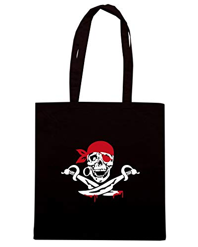 PIRATE Speed SWORD Shirt Nera Shopper Borsa TM0519 q78fZFw