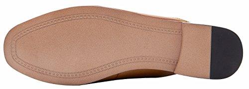 U-lite Vrouwen Horsebit-gedetailleerde Lederen Instappers En Muilezels Schoenen Bruine Mule