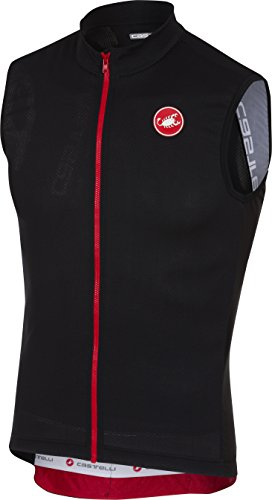 Castelli Entrata 3 Sleeveless Full-Zip Jersey - Men's Light Black, L