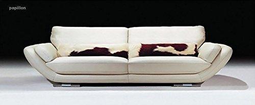 Calia Maddalena–Sofa Zeitgenössische Einladende Schmetterling, Cuir Série Maya Cognac, Fauteuil - 140x82x90cm