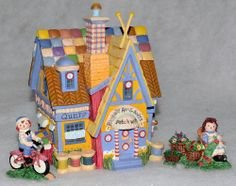 Department 56 Raggedy Ann & Andys Patchwork House Set of 3 Storybook Village Collection 13207 -