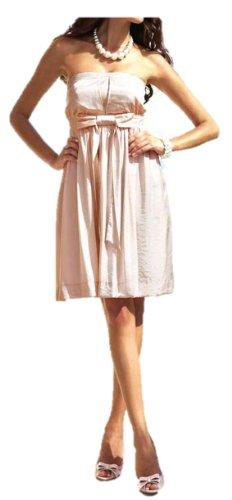 APART Damen-Kleid Glanz-Kleid Corsagen-Kleid Cocktail-Kleid puder-rosa Gr. 38