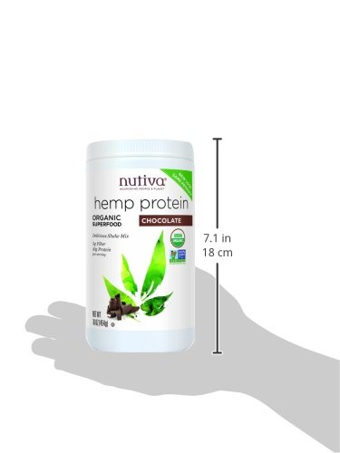 Nutiva Organic Hemp Shake, Superfood Drink Mix, 16 Ounce Canisters