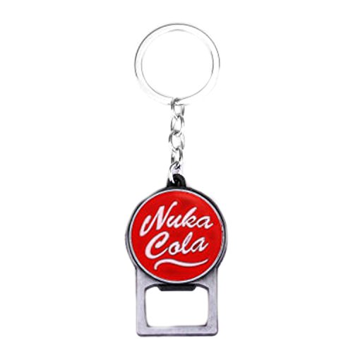 Outlander Brand Fallout 4 Nuka Cola Premium Quality Silvertone Keychain Key Ring w/Gift -