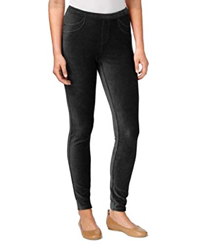 Style&Co Petite Corduroy Leggings (Deep Black, ()