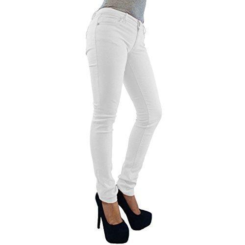26 slim Curvy pantalon Femmes jeggings grande FASHIONCHIC 8 fermeture uni couleurs skinny habill 18 color lastique coupe clair Blanc taille disponible xaPIPqS