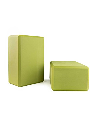Nu-Source 9' x 6' x 4' Yoga Block, Green, 2-Pack
