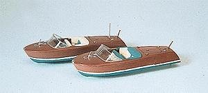 (Preiser 17304 Boats Speed Boat Package(2) HO Scale Vehicles Scenery)