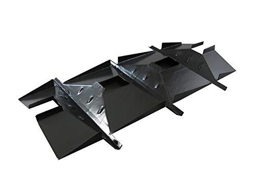 Plate Coated Steel Porcelain Heat (MNB Fiesta Gas Grill Porcelain Coated Steel Heat Plate Tent Replacement 95031)