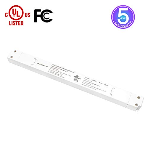 12 Volt Dimmable Driver - HitLights LED Driver, 100W 12V LED Dimmable Driver Transformer 110-277VAC - 12V 8.3A DC Electric Dimmable Power Supply for LED Strip Lights, 12V Constant LED Products
