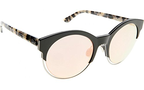 Dior Sideral 1/S XV5 0J Black ruthenium Havana Plastic Round - Prescription Sunglasses Dior