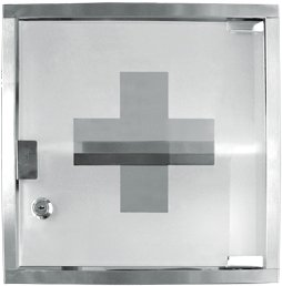 Delightful 2 Shelf Stainless Steel Medicine Chest With Locking Front Glass Door *Great  Qualtiy*