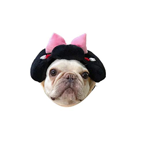 Stock Show 1Pc Dog Cat Cute Novelty Japan Geisha Samurai Hat Headwear Sticker Dog Cat Funny Holiday Festival Costume Hat Headdress Halloween Xmas Festival Theme Party Photo Prop -