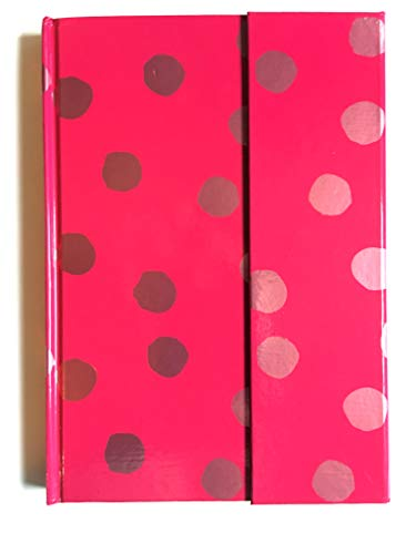 Journal Diary with Magnetic Closure Assorted (Pink Polk-a-dot)
