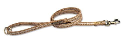 Petego La Cinopelca Monogram Flat Training Leash, Ecru, 3/4 Inches by 71 Inches
