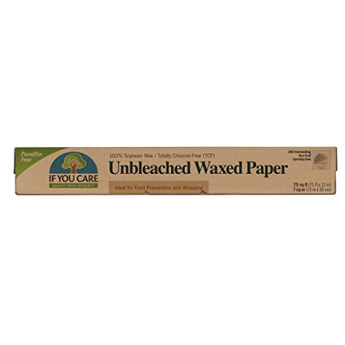 IF YOU CARE Unbleached All Natural Waxed Paper, 75-Foot Roll (Pack of 12)