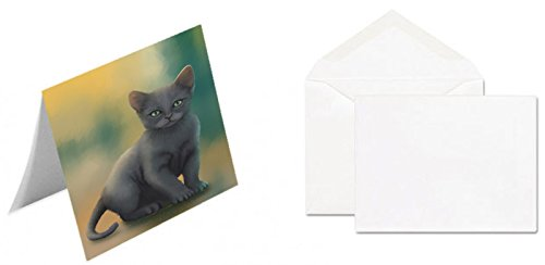 ロシアブルーKitten Cat注意カード 10 B0735WSKGQ  10