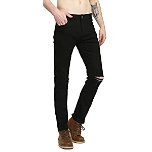CLOTPUS Men's Slim Fit Ripped Stretch Jeans Destroyed Skinny Pants with Holes