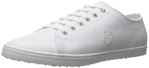 Fred Perry Kingston Leather Shoe, White, 9.5 D UK (10.5 - Uk Preppy