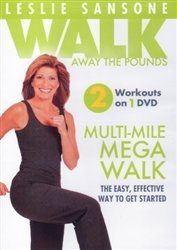 Leslie Sansone Walk Away The Pounds Multi Mile Mega Walk DVD - Walk Diet and Express 3 Mile