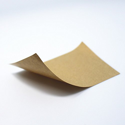 4.1''x5.8'' (10.5x14.85cm) 960 Pieces Kraft Sticker Paper A4 Self Adhesive Brown Printing Copy Label Paper for Inkjet Printer 4 Pcs Per Sheet by BAT Pack