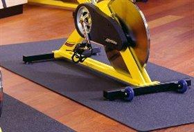Bodenmatte 120 x 60 cm Unterlegmatte für Fitnessgeräte, Heimtrainer