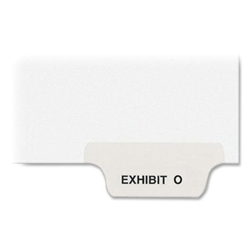 Top Avery Dennison 12388 Preprinted Legal Bottom Tab Dividers, Exhibit O, Letter, 25/Pack free shipping