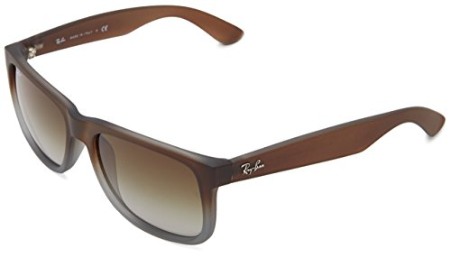Ray-Ban RB4165 Square Non-Polarized Sunglasses,Brown On Grey, 55mm