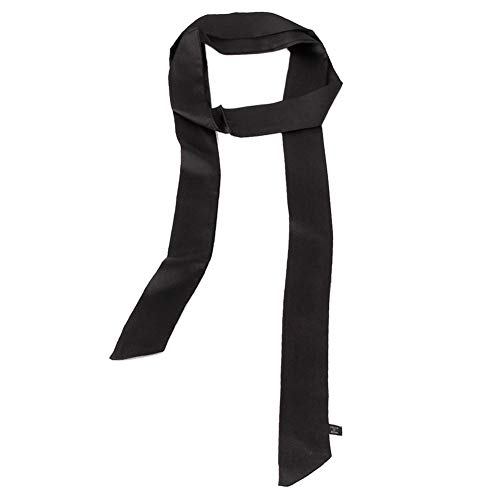Satin Tie Waist Dress - Ribbon Scarf for Women Handbag Wrap Handle Satin Belt Sash Necktie Neck Scarf PSSD01 (Black)