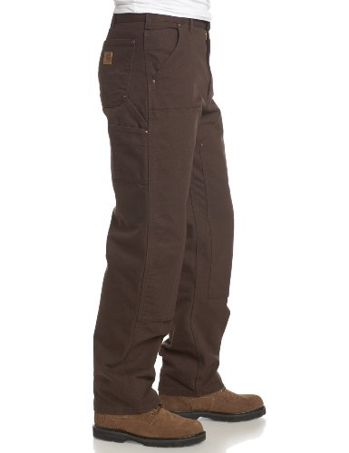 Carhartt Men's Double Front Washed Duck Work Dungaree Pant B136