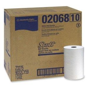 "Scott'S Hard Roll Towels 8 "" X 400 Ft. Box Of 12 Roll White"