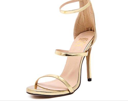 38 Heel 40 High Silber Nude 39 WOMEN Schwarz Gold Schuhe 35 Römische 37 36 Sandalen XDGG gold WI1nqOx6